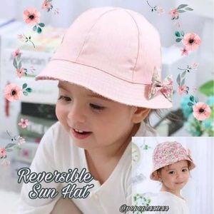 REVERSIBLE SUPER CUTE  Girls Sun Hat